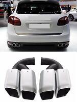 Für Porsche Cayenne Endrohre Auspuffblende 14-17 GTS Turbo 4S Look #05
