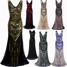 Long Formal Evening Dresses Gatsby Dress Plus Size Womens Costume Party Cocktail