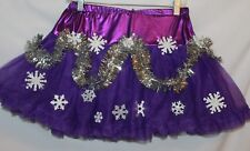 Deb Rottum's  Ugly Tacky Christmas Sweater Party TUTU Skirt  Size S / M PURPLE