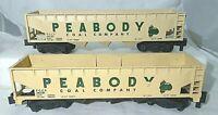 Two American Flyer No. 24230  Peabody Coal Company Three Bay Hoppers