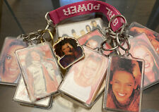 Spice Girls Key Chains Lot Of 11 Plus One Small Pink Lanyard.
