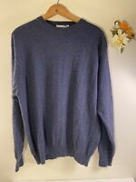 I Levrieri 50% Silk & Cashmere Mens Large Grey/Blue Sweater