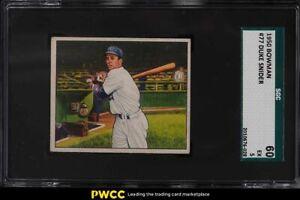 1950 Bowman Duke Snider #77 SGC 5 EX