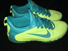 Nike Free 5.0 TR Trainer Athletic Shoes #644671-730 Yellow/Teal MENS Size 14 EUC