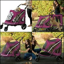 Pet Gear Big Strollers Jogger Carrier Walk For Dogs 4 Wheel Travel No Zip New