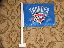 NEW Oklahoma City Thunder Car/Auto Flag, Blue, NBA Basketball (Westbrook, Adams)