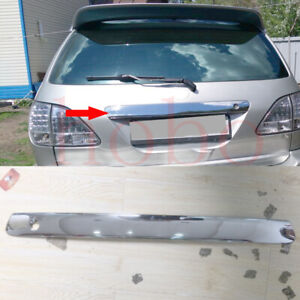 1x For Lexus RX300 MCU15 98-02 Stainless Silvery Rear Door Cover Logo Lower Trim
