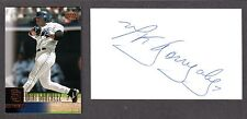 Wiki Gonzalez ( Debut 1999 ) SD WAS SEA  SIGNED AUTOGRAPH AUTO 3x5 INDEX COA
