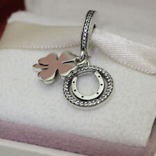 * Authentic Pandora Lucky Day Clover - Horseshoe Dangle Charm 792089CZ Luck