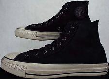 New Mens 9.5 CONVERSE John Varvatos CT HI Black Leather Shoes $180 150209C