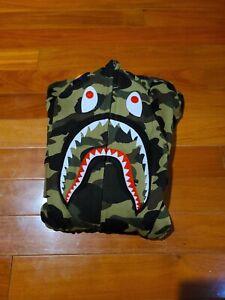Bape WGM Shark Hoodie Green Camo Size XL (READ DESCRIPTION)