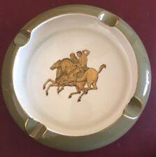 Sandland Ware Ashtray Green Gold Horse Staffordshire England China