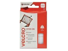 VEL60235 VELCRO® Brand Stick On Squares 25mm White Pack of 24