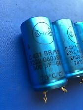 Set of Capacitors 2000uF 16V x2 and 500uF 64V x1