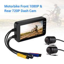 "4.0"" Twin Lens 1080P+720P Motorcycle Dash Action Camera Video Recorder Recording"