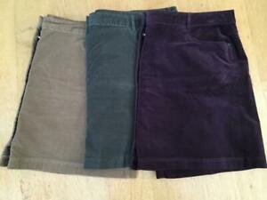 M & S COLLECTION   Soft Needlecord Skirts x 3   Size 24