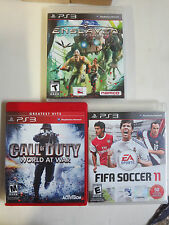 PlayStation 3 Video Game Lot of 3Dif Enslaved Call of Duty World at War FIFA 11