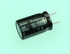12pcs Rubycon YK 1000uf 16v 85c Radial Electrolytic Capacitor 1000mfd