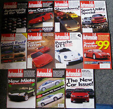 AUTOMOBILE MAGAZINE- LOT OF 11 ISSUES- all  1997