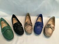 New! Isaac Mizrahi Live! Python Embossed Leather Moccasins, 7M, Select Color