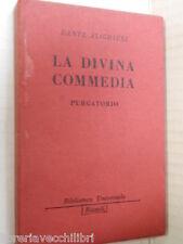 LA DIVINA COMMEDIA Purgatorio Dante Alighieri Lodovico Magugliani Rizzoli 1949
