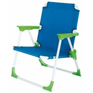 Eurotrail Foldable Portable Camping Garden Beach Chair For ChildrenKid BlueGreen