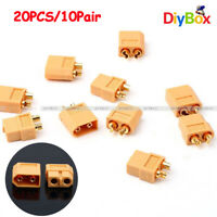 Lots 20Pcs 10 Pairs XT60 Male+Female Bullet Connectors Plugs for RC Lipo Battery
