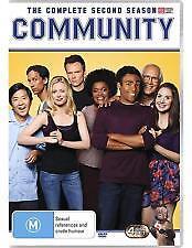 COMMUNITY COMPLETE 2nd SEASON , 4 DISC's, REGION 4, NEW & SEALED.