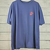 Marines Dark Blue Short Sleeve T-Shirt USMC Mens Size XL Logo EUC
