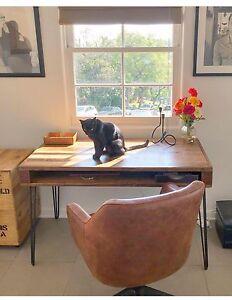 Handmade Reclaimed Wood Storage Desk
