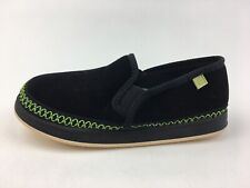 Foamtreads Innsbruck Moccasin Slippers Kids Size 3 M, Black/Green 2682