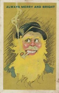Unusual SANTA FATHER CHRISTMAS Smoking PPC in National Series # 2623 Unused