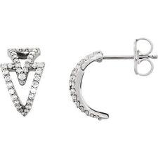 Diamond Geometric Earrings In Platinum (1/4 ct. tw