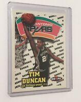 1997-98 NBA Hoops Tim Duncan RC Basketball Rookie Card San Antonio Spurs HOF
