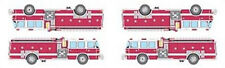 Mrs. Grossman's Stickers - Fire Engines - Fire Trucks - Ladder Truck- 4 Strips