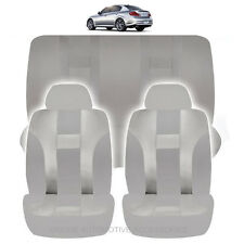 NEW ALL GRAY POLYESTER AIRBAG READY SEAT COVERS COMBO 6PC SET FOR CARS 1123