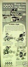 1964 Hawk Model Kits Weird-Ohs Decals~Daddy~Davey Kids Oddball Toy Promo Art Ad