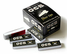 1 box OCB Perforated FILTER TIPS 25 booklets x 50 Paper Filters