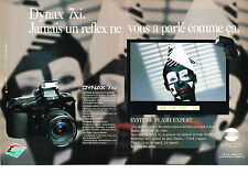 PUBLICITE ADVERTISING  1991   MINOLTA  appareil photo DYNAX 7XI    ( 2 pages)