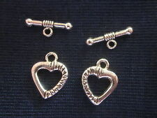 10 Antique Silver Coloured 15x12mm Toggle Clasps #118 Combine Post-See Listing