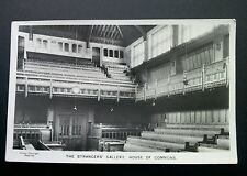 House of Commons 'The Strangers' Gallery' Vintage RP Postcard / With Greetings