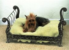 NEW FRENCH TUSCAN IRON SCROLL SLEIGH ACANTHUS PET DOG CAT BED