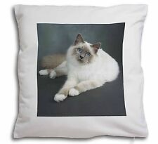 Adorable Birman Cat Soft Velvet Feel Cushion Cover With Inner Pillow, AC-85-CPW