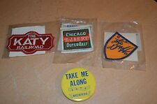 Lot of 3 Vintage Walthers Railroad Emblems NEW SEALED PLUS BONUS!