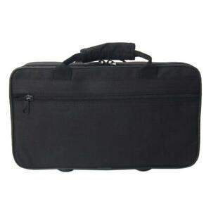 Black Oxford Cloth Clarinet Case Bag Box with Shoulder Strap Sturdy