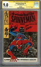 Amazing Spider-Man #100 CGC 9.0 SIGNED 2x STAN LEE & JOHN ROMITA Reprints MCU