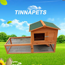 150*60*90cm LAREGE Double Story Rabbit House Chook Hutch Cage EXTENSION RUN P028