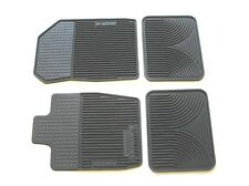 10 11 12 LINCOLN MKZ BLACK RUBBER ALL WEATHER SEASON FLOOR MATS RUGS OEM SET NEW