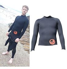 1.5 mm thermal neoprene long sleeve rash vest under wetsuit or alone for surfing