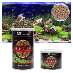 220ml/500ml Aquarium Freeze Dried Shrimp Eggs Tropical Small Marine Fish Food